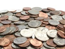 Coins. Pile of Coins Royalty Free Stock Image