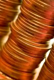 Coins. A macro photo of golden coins Royalty Free Stock Photography