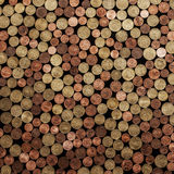 Coins. A lot of European coins (Euro cents Stock Photography