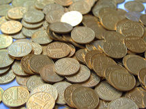 Coins 3. Hill of money royalty free stock image