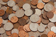 Coins. Background picture of many coins Royalty Free Stock Image