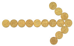 Coins 4. Arrow royalty free stock photography