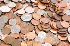 Coins. American coins background, texture, or concept Royalty Free Stock Photo