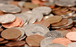 Coins. Photo of American Coins royalty free stock image