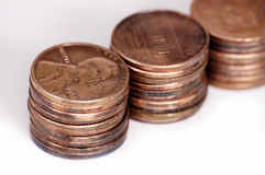 Coins. On a white background Royalty Free Stock Images