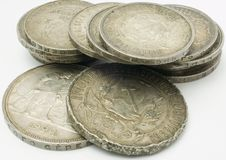Coins. Old coins Royalty Free Stock Images