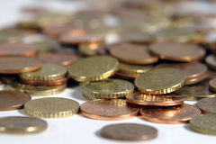 Coins. With shallow dof stock images