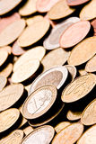 Coins. Pile of Euro money coins Royalty Free Stock Photo