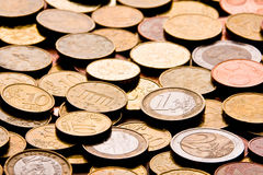 Coins. Pile of Euro money coins Royalty Free Stock Image