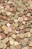 Coins. Whole lot of euro coins Royalty Free Stock Photography