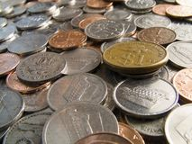 Coins. Malaysian Coins Stock Images