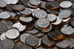 Coins. Picture of coins, five rubles Royalty Free Stock Images