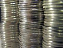Coins. Pile folded coins. Coins stock Stock Photos