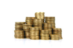 Coins. Stacked coins Royalty Free Stock Photos
