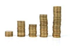 Coins. Stacked coins Stock Photos