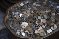 Coins From All Over The World Royalty Free Stock Photo