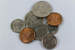 Coins. American coins on a background Royalty Free Stock Images