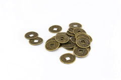 Coins. Ancient Chinese coins, objective picture Royalty Free Stock Photos