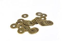 Coins. Ancient Chinese coins, objective picture Stock Photography