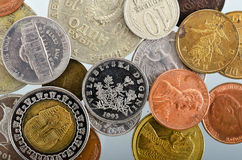 Coins as a background Stock Photos
