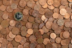coins background Royalty Free Stock Photography