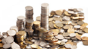 Coins background Stock Photography