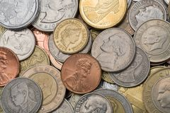 Coins, background Royalty Free Stock Photos