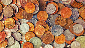 Coins background Stock Image