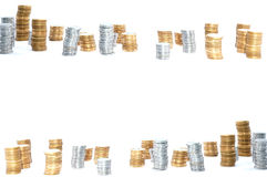 Coins Background Border Royalty Free Stock Images