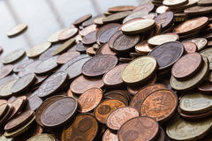 Coins background cents Royalty Free Stock Image