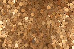 Coins background one. Pictured on the placer Russian coins ten cents Stock Image