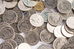 Coins background. Silver coins abstract background texture stock images