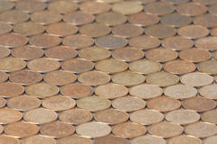 Coins background six. Pictured on the background of Russian coins fifty cents Royalty Free Stock Images