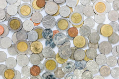 The Coins background Stock Photos