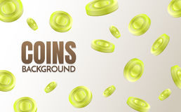 Coins background template Vector. For banner, poster, flyer Royalty Free Stock Images