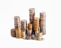 Coins bakgrund Arkivfoto