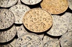 Coins bakgrund Royaltyfri Foto