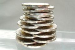 Coins - balance Royalty Free Stock Photos