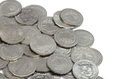 Coins of Bangladeshi currency Royalty Free Stock Images