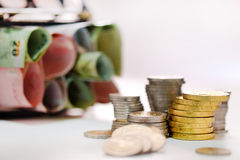 Coins and banknotes Thailand Royalty Free Stock Photos