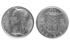 Coins, Belgium. royalty free stock images