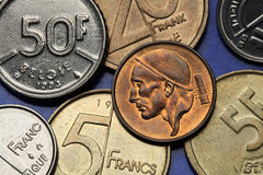 Coins of Belgium Royalty Free Stock Photography
