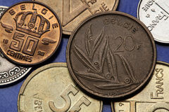 Coins of Belgium Stock Photography