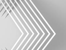 Coins blancs avec les ombres molles 3d illustration stock