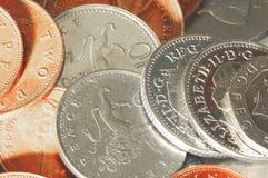 coins blank uk Royaltyfri Fotografi