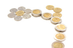 Coins blossom Royalty Free Stock Photography