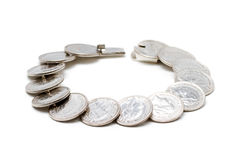 Coins bracelet Royalty Free Stock Images
