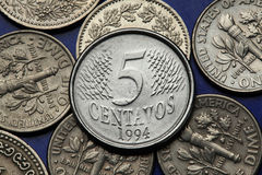 Coins of Brazil Stock Image