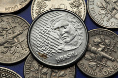 Coins of Brazil Royalty Free Stock Images