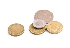 Coins, British pounds Royalty Free Stock Photography